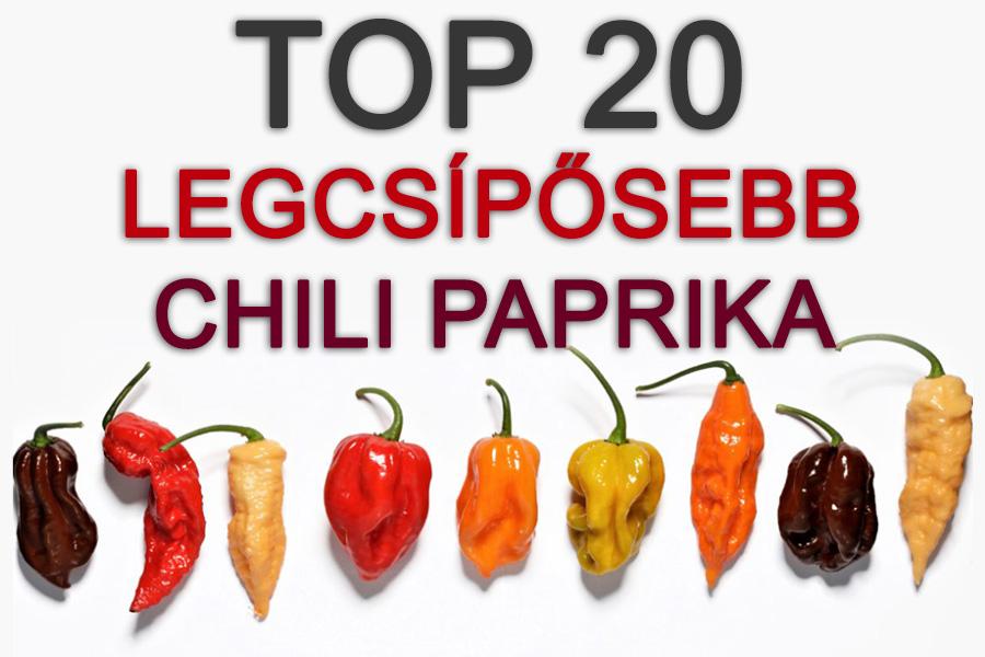 A 20 legerősebb chili paprika a világon